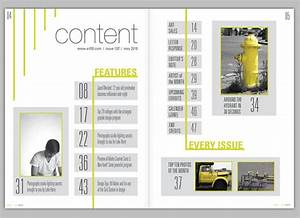 Image result for magazine table of contents | design ...
