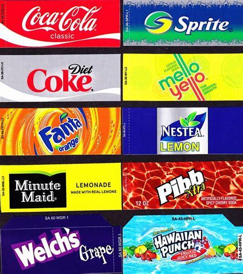 vending machine labels  supplies soda labels