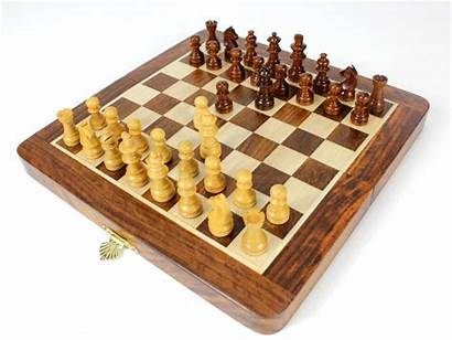 Chess Checkers Magnetic Layout Pawns Folding Travel