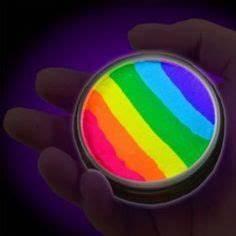 Fluorescent UV body paint 5 x 0 25 oz color set neon