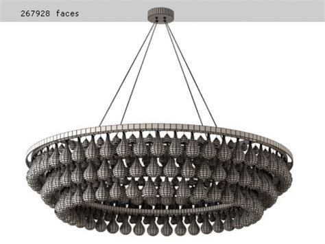 arctic pear chandelier 120 3d model ochre