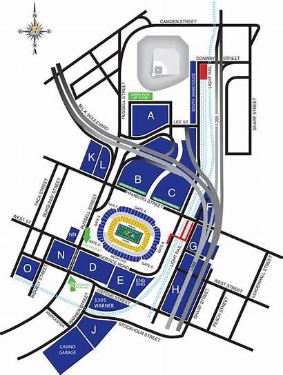 Stadium Baltimore Parking Diagram Tailgate Ravens Diagrams