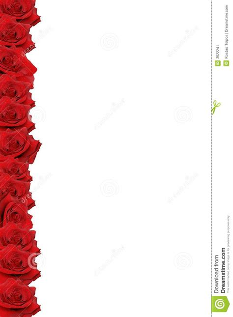 red rose border stock image image