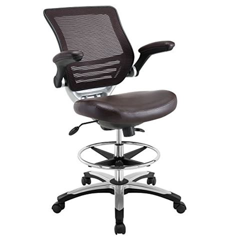 Modway Edge Drafting Chair In Brown Vinyl  Reception Desk. Affordable Desks. Wilko Desk Fan. Ikea Small Table. Hideaway Desks. Walnut Effect Desk. Help Desk Customer Support. Dining Table Base. Walnut End Table