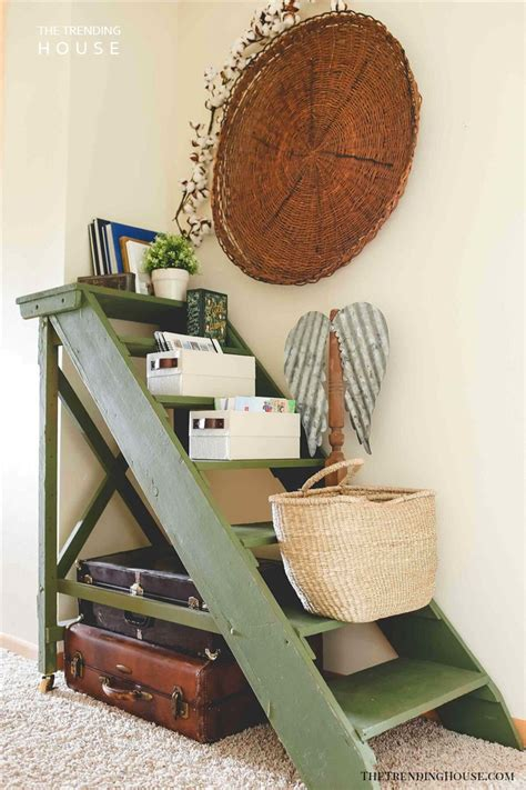 brilliant repurposed  ladder ideas  fans  upcycling  trending house