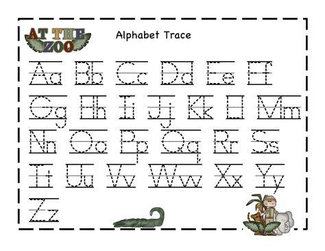 alphabet tracer pages kiddo shelter