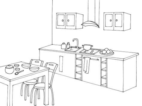 dessin d une cuisine cuisine coloriage