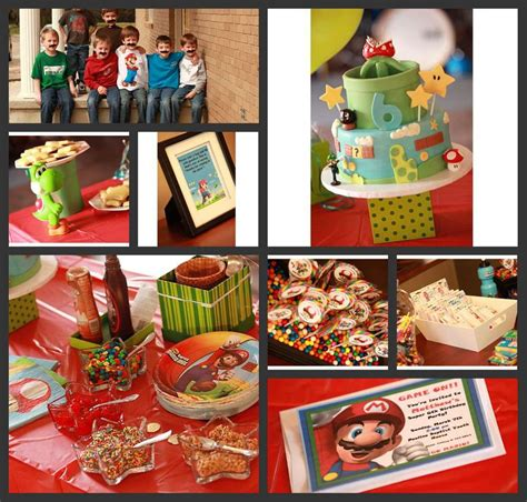 Super Mario Brothers Birthday Party Ideas Photo 10 Of 12
