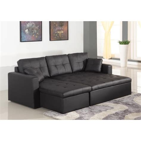 canapé d angle simili canapé d 39 angle lit convertible girly noir en simili cuir