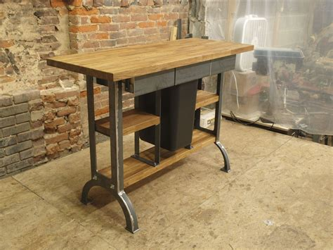 hand  modern industrial kitchen island console table