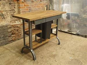 Hand Made Modern / Industrial Kitchen Island Console Table