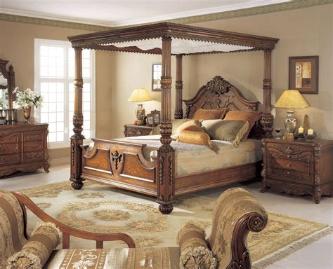 king poster bedroom sets orleans international 6 pc renaissance king poster bed w 15751 | 939 001B 78652.1312271789.1280.10381 70454