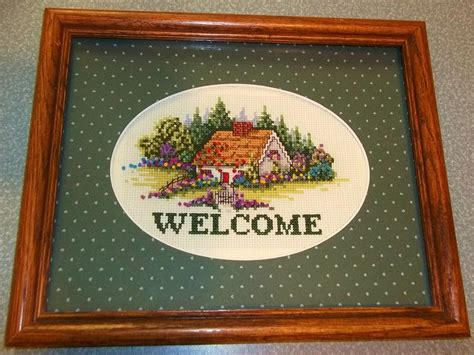 Welcome Cottages by Debbie S Cross Stitch Finishes 2012