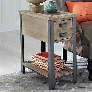 Null, Furniture, 9918, Chairside, End, Table, With, Patchwork, Slate, Top