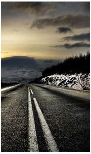 road, Snow, Horizon, Sunset, Sunrise Wallpapers HD ...