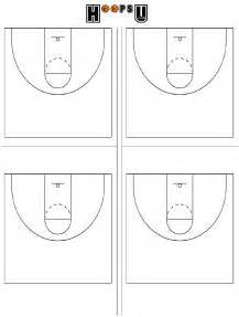 Printable Blank Basketball Court Diagram