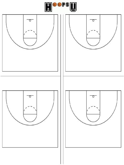 basketball court dimensions diagrams