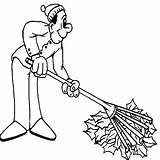 Coloring Rake Autumn Leaves Fall Raking Leaf Colornimbus Yard Father Tragedy Colouring Sheets Piles Mardi Gras Comedy Symbol Mask Cleaning sketch template