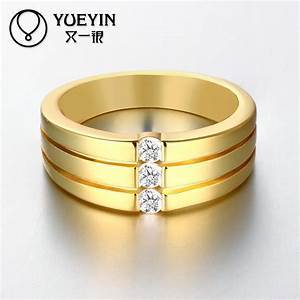 newest trendy male jewelry crystal rings wedding korean With wedding rings for men india