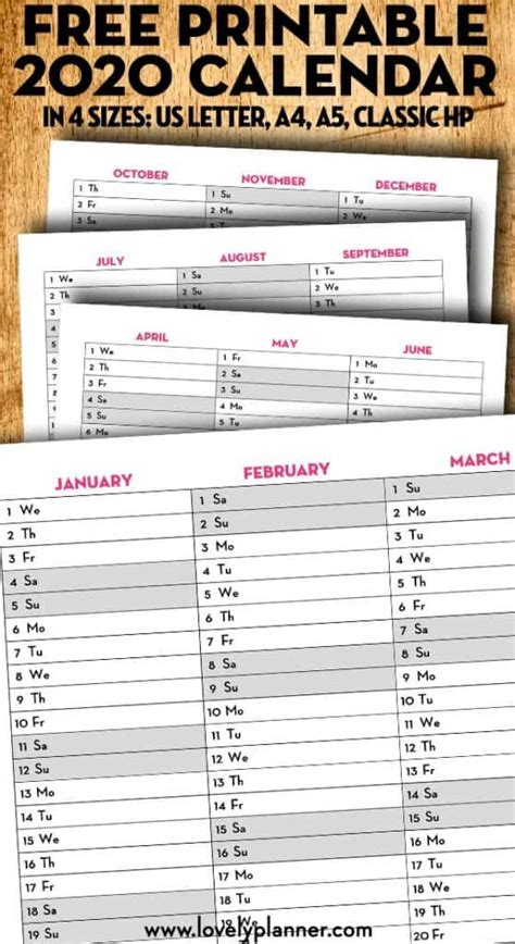 printable  quarterly calendar calendex lovely