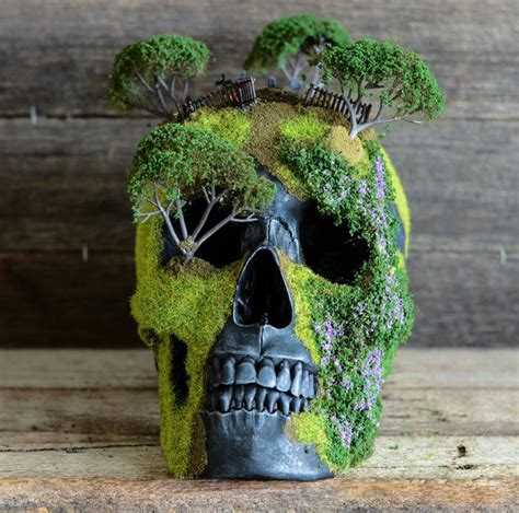 Bonsai Skulls Are Faux Human Made Into Nature Esque