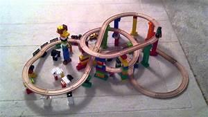 Brio Eisenbahn Schienen : 2011 11 17 brio und lego duplo in 2 stockwerken verschachtelt gesamtaufnahme youtube ~ Orissabook.com Haus und Dekorationen