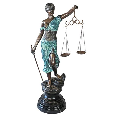 design toscano themis blind justice giant garden statue