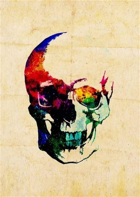 Colour Explosion Skull Magic Watercolor Pinterest