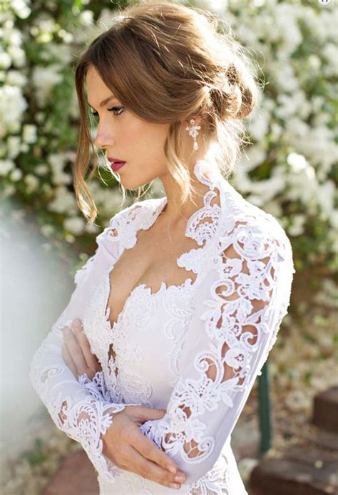 Hairstyle For Dress by Sleeve Wedding Dresses 20 Gowns For Fall And