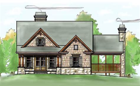 craftsman style homes plans 3 bedroom craftsman cottage house plan with porches