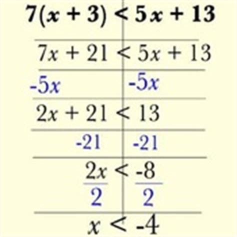 Solving Multistep Linear Inequalities And The Distributive Property Tutorials, Quizzes, And