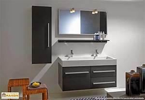 Meuble salle de bain 2 vasques 120 meuble decoration maison for Salle de bain 2 vasques