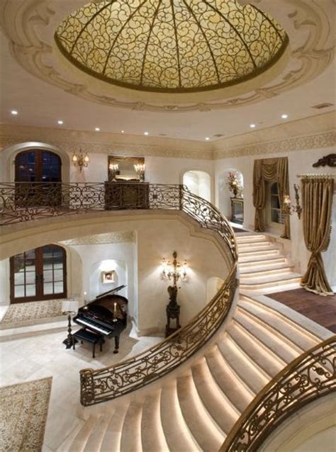 Grand Foyer by Grand Lakefront Manor 18 500 000 Pricey Pads
