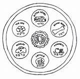 Seder Plate Coloring Passover Pesach Meal Jewish Meaning Disegni Colorare Haggadah Pasqua Ebraica Holiday Religiosi Messianic Cup Symbols Preschool Duathlongijon sketch template