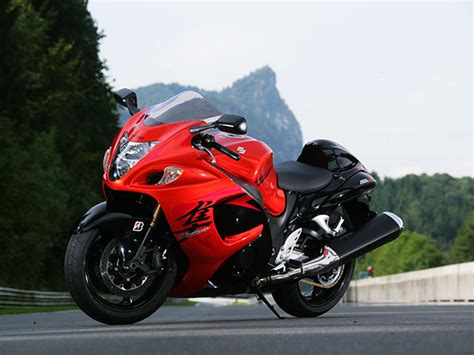 Red Hayabusa Motorcycle
