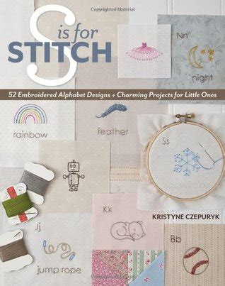 stitch  embroidered alphabet designs charming projects     kristyne