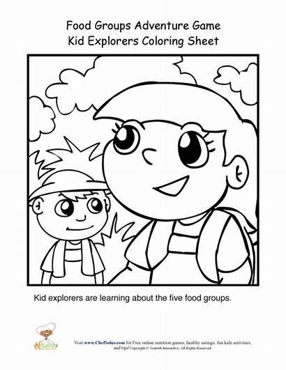 Groups Coloring Explorers Printables Sheet Adventure Kid