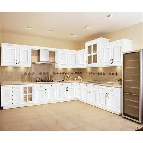 Blanc armoires de cuisine en bois massif meubles-Armoire de cuisine-Id du produit500002848702 ...