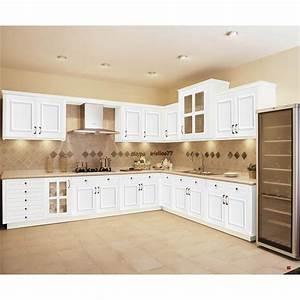 Cuisine Bois Et Blanc : blanc armoires de cuisine en bois massif meubles armoire ~ Dailycaller-alerts.com Idées de Décoration
