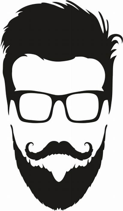 Beard Silhouette Clipart Vector Hair Hipster Clip