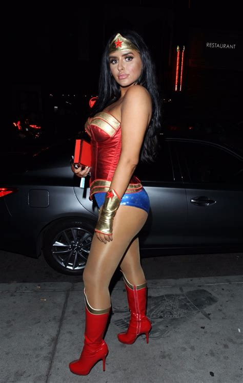 abigail ratchford woman arrives avenues carnal carnival event halloween