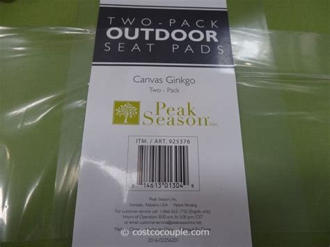peak season outdoor seat pads
