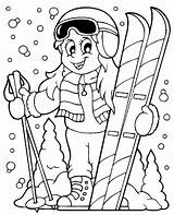 Coloring Skiing Ski Theme Vector Illustration Clipart Winter Sheet Skis Helmet Eps Topcoloringpages Eps10 Popular Illustrations Children Fotosearch Freshwater Fishes sketch template