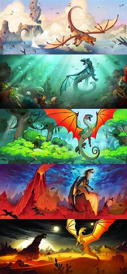 Wings Fire Series Dragon Dragons Covers Books