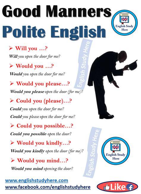 good manners polite english english study