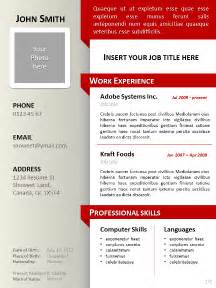 make resume in powerpoint cv templates powerpoint free