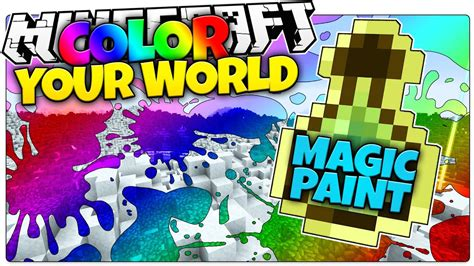 minecraft magic paint color your world minecraft