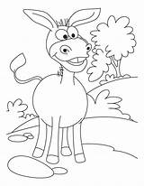 Donkey Coloring Pages Cartoon Donkeys Printable Ass Colouring Lovely Animal Template Caterpillar Sheets Bestcoloringpages Funny Frog Library Clipart Diddy Kong sketch template