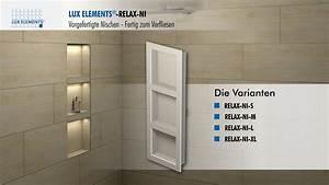 Tv Für Badezimmer : lux elements montage vorgefertigte nischen relax ni f r den einbau in eine wand youtube ~ Markanthonyermac.com Haus und Dekorationen