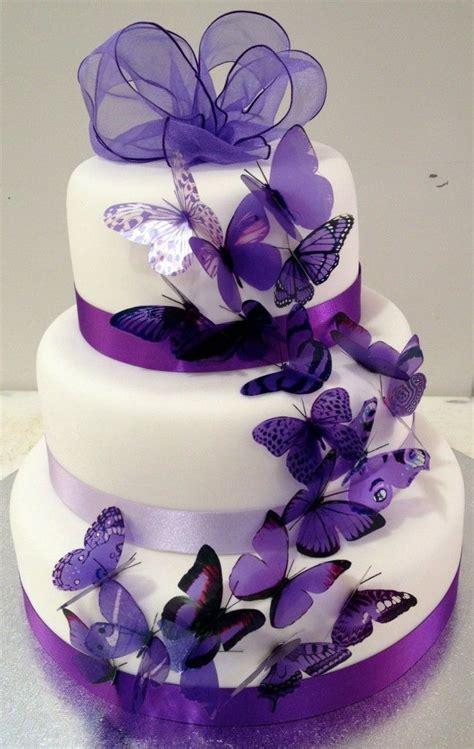 Purple Butterfly Wedding Cake Wedding Cake Design Ideas
